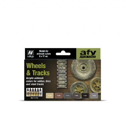 Vallejo Model Air Wheel & Tracks Paint Set